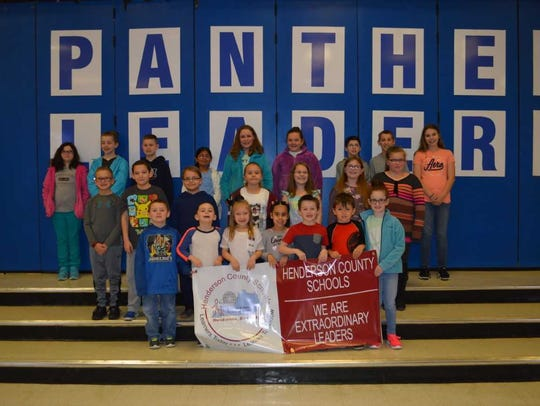 Spottsville Elementary's March leaders of the month