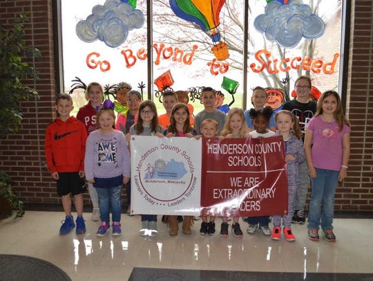 Niagara Elementary's March leaders of the month are,