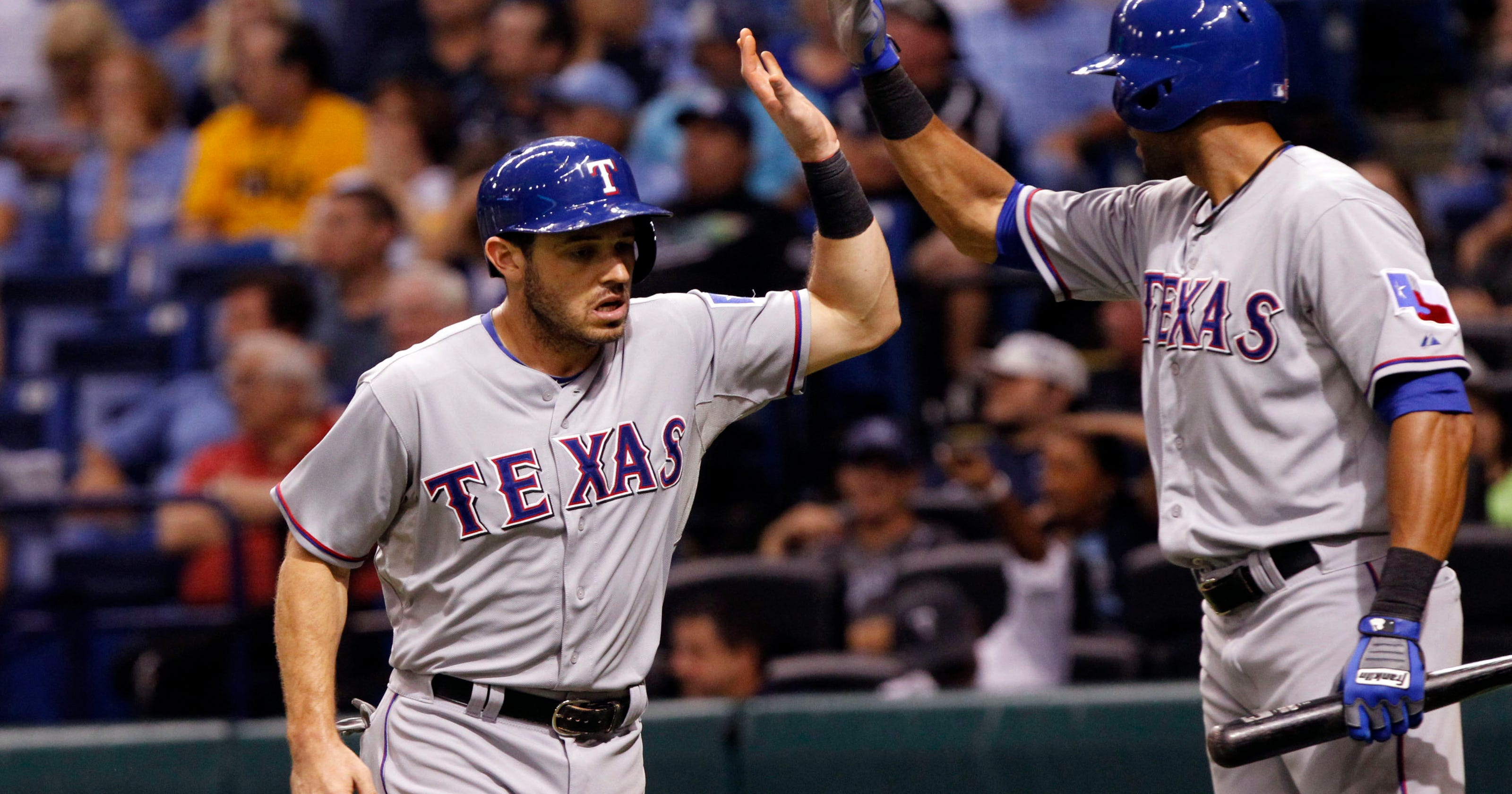 Rangers Beat Rays Create Tie Atop Wild Card Standings