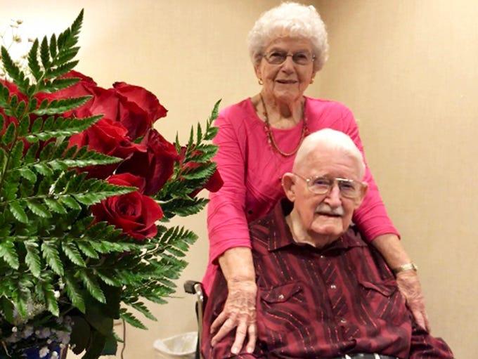 James and Juanita Devine celebrated their 72nd wedding
