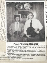 The Eden Volunteer Fire Department made local papers