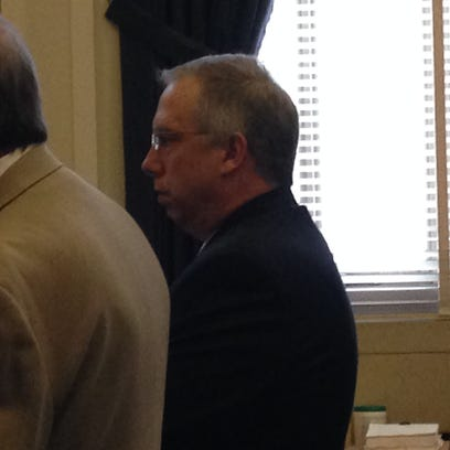 Dan Knecht at his sentencing Thursday in Hamilton County Common Pleas Court.