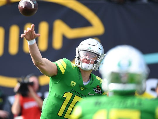 North 3. The Ducks have a a dark horse Heisman Trophy