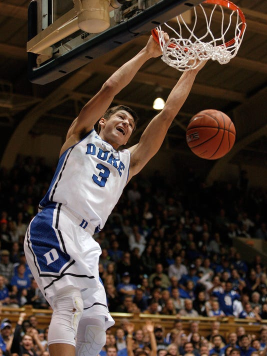 640779f0d2e NCAA Basketball  Fairfield at Duke. Duke Blue Devils guard Grayson Allen (3)  ...