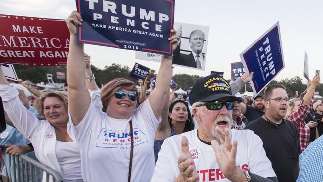 Donald Trump supporters in Tallahassee on Oct. 25, 2016.