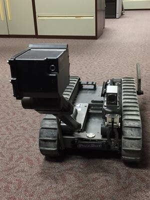 The Port Huron Police Department has been able to obtain a 510 PackBot through a Department of Defense program.