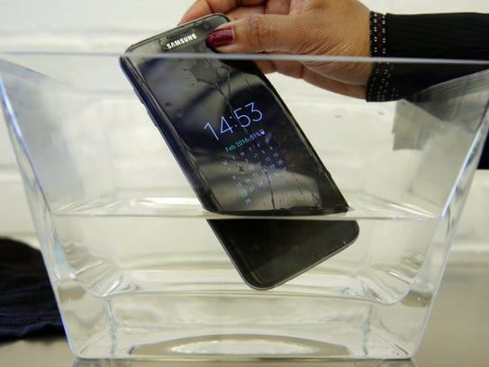 A waterproof Samsung Galaxy S7 Edge mobile phone is