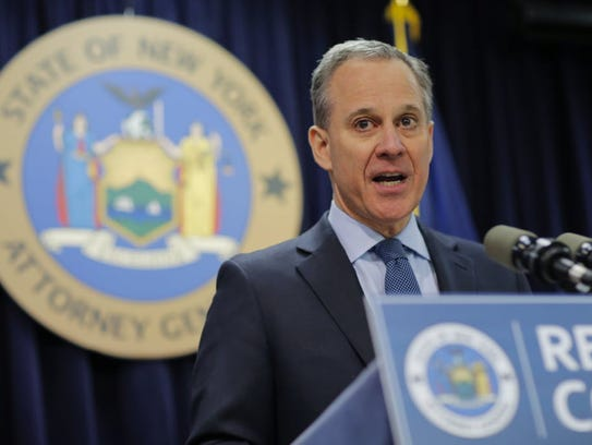 New York Attorney General Eric Schneiderman in New