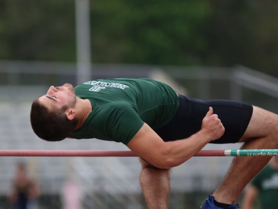 James Buchanan's Chas Shelly clears the bar in the