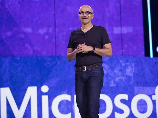 """Microsoft CEO Satya Nadella said, """"As an immigrant"""