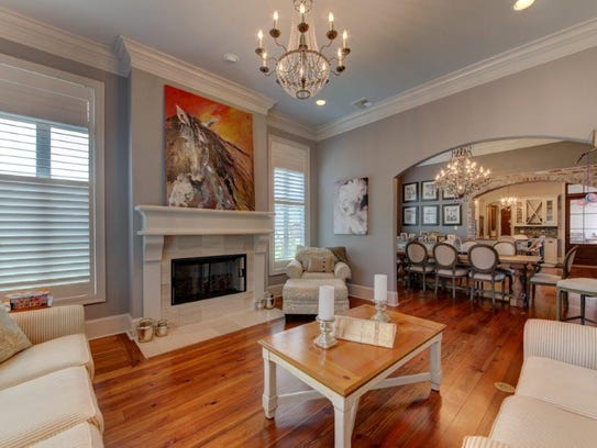 The living areas offer beautiful finishes and lots