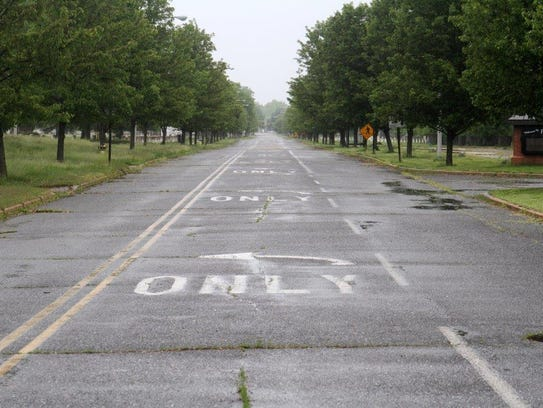 Looking East down the Avenue of Memories in Fort Monmouth,