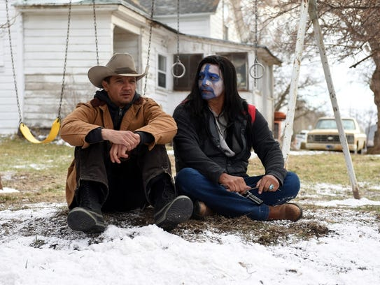 """Jeremy Renner and Gil Birmingham in """"Wind River."""""""
