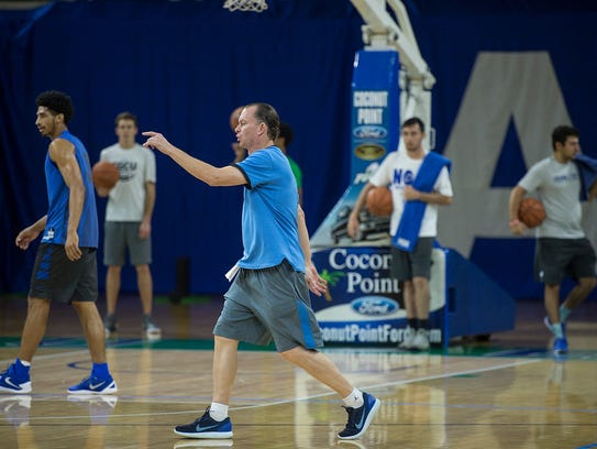 Fifth-year FGCU coach Joe Dooley is pointing the loaded