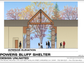 Plans for the multi-use shelter building at Powers