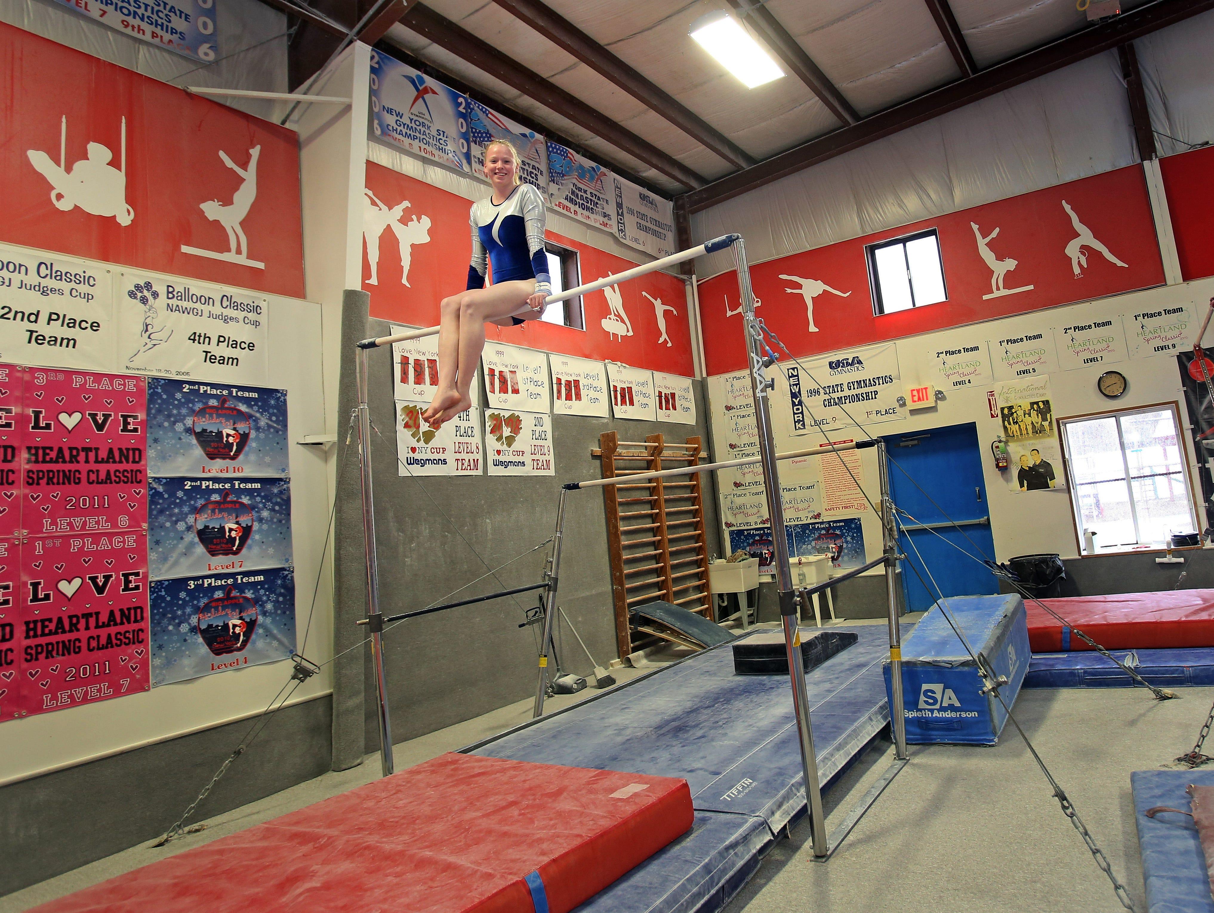 Mahopac senior Katherine Dorovitsine is the Journal New/lohud co-gymnast of the Year with teammate Callie Johanson.