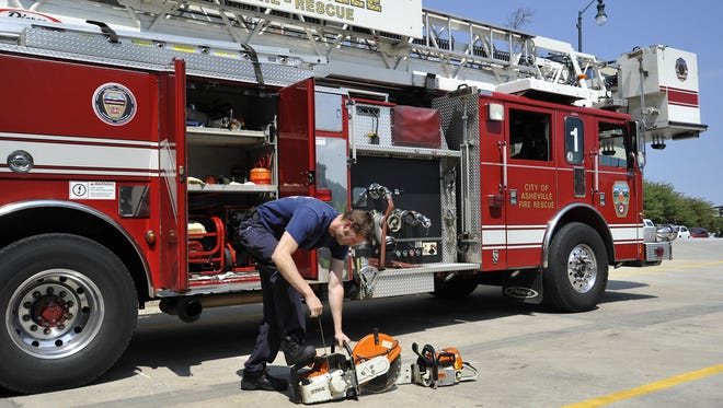 A new ladder truck, like the one pictured here, can cost $1.4 million, with all of the necessary equipment.