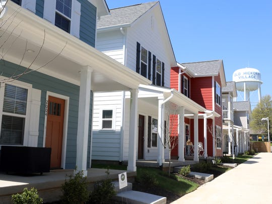 The first 16 homes have been completed in Village