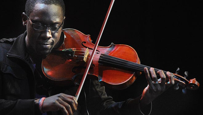 Florida duo Black Violin — Wil Baptiste (pictured) and Kevin Marcus —will play Clowes Memorial Hall at Butler University on Feb. 18.