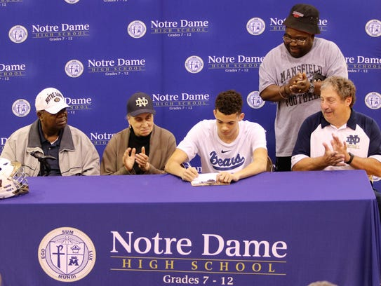 Notre Dame senior Richard Heyward signs to play lacrosse
