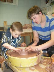 Jake Duty started an Empty Bowls fundraising project in Dutton. He helped students make bowls and then the finished bowls were sold at auction with proceeds going to the Teton County Food Bank.