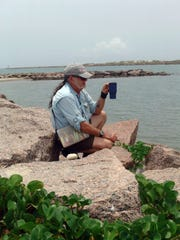 Billy Sandifer at the Mansfield Jetty, the southern boundary of Padre Island National Seashore.