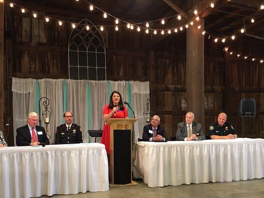 Gallatin Area Chamber of Commerce CEO Kim Baker addresses