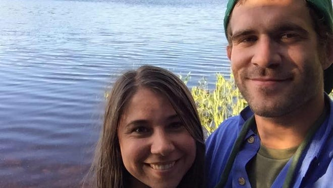 Justin Beebe and his fiancee, Jennifer Zaso, in 2015. Beebe of Bellows Falls was killed fighting a fire in Nevada.