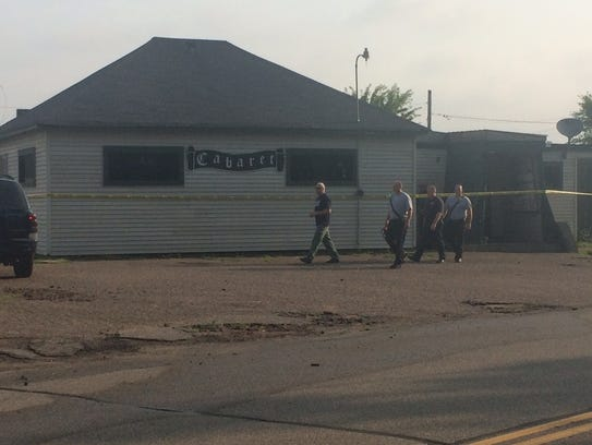 Police and firefighters respond to a fire early Aug.