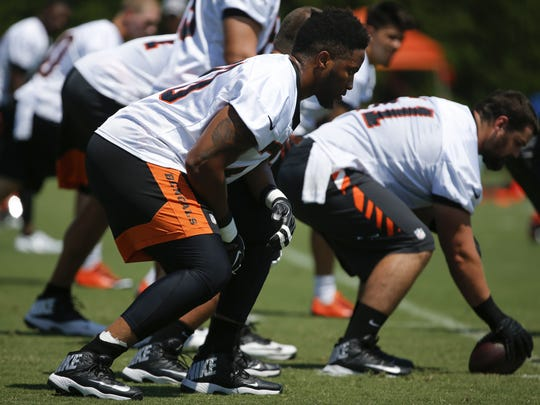 Bengals offensive tackle Cedric Ogbuehi has leaned on the advice of teammate Carlos Dunlap and former Bengal Willie Anderson to improve.
