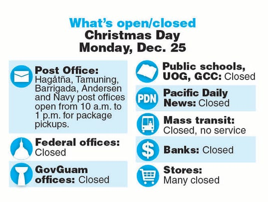What's open what's closed Christmas Day