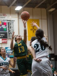Mayfields's Raena Tesillo(13) shoots the ball during