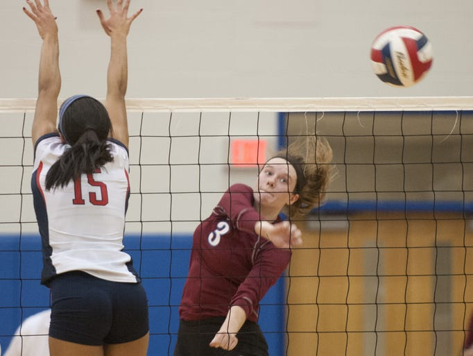 Assumption Rockets outside hitter Brooke Moore a senior,