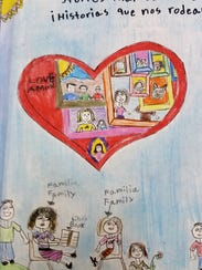 Students illustrated their stories.