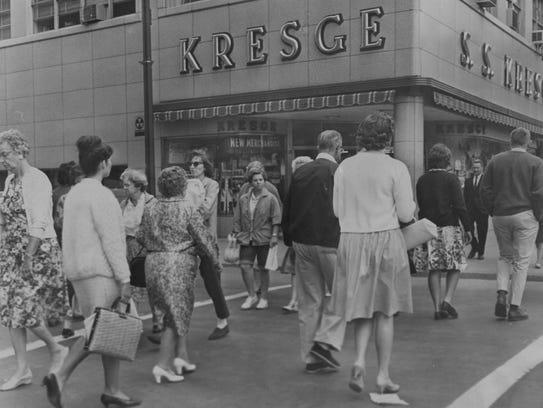 Kresge's store on Court Street in Binghamton, about
