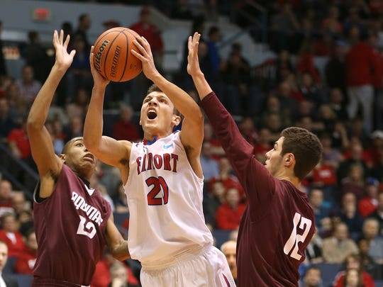 Fairport's Dan Masino needs eight points to reach 1,000 with the Red Raiders.