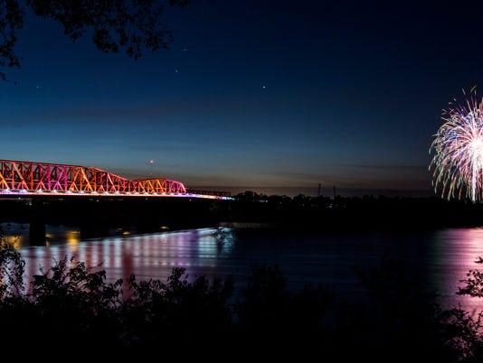 Big River Crossing Bridge Lighting
