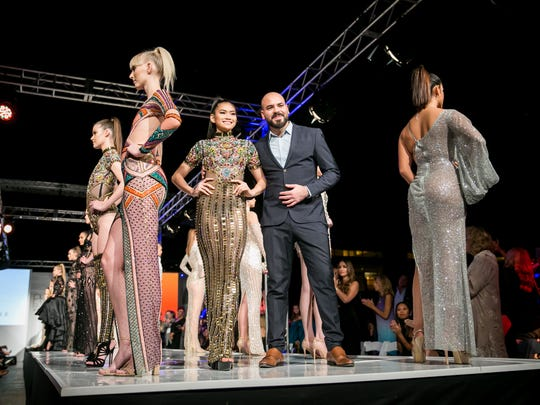 Yas Couture's runway during Phoenix Fashion Week at Talking Stick Resort in Scottsdale on Saturday, Oct. 7, 2017.