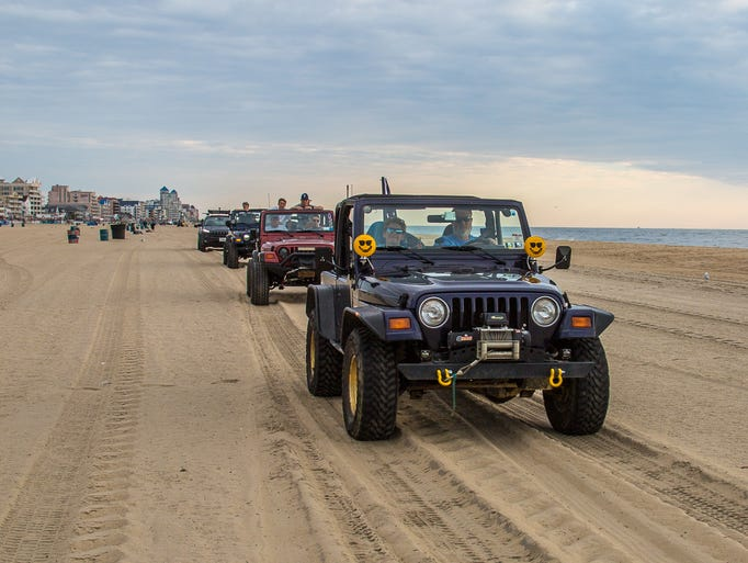 The Beach Jeep Crawl this morning in Ocean City had