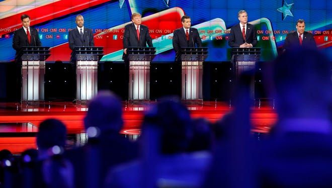 GOP debate in Las Vegas on Dec. 15, 2015.