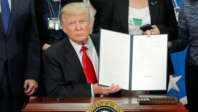 Donald Trump signed an executive order on Jan. 25 calling on local authorities to cooperate more with immigration enforcement.