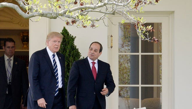 President Trump and Egyptian President Abdel Fattah al-Sisi at the White House on April 3, 2017.