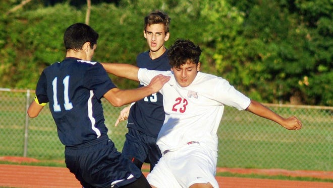 Fair Lawn forward Hani Huzien (#23) is going into his junior season on the boys soccer team.