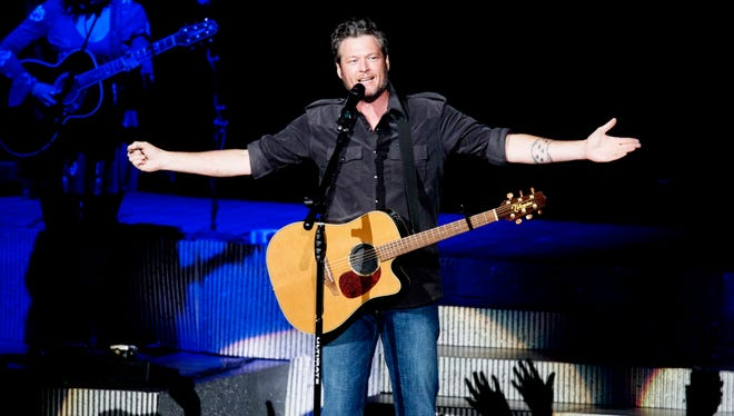 Blake Shelton is scheduled to headline Country Thunder Wisconsin in Twin Lakes on July 18.