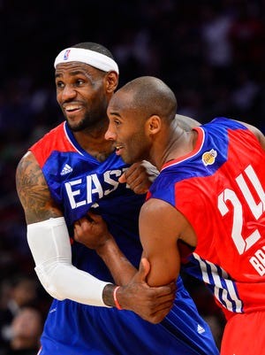 Kobe Bryant and LeBron James were again voted as starters for the NBA All-Star Game.
