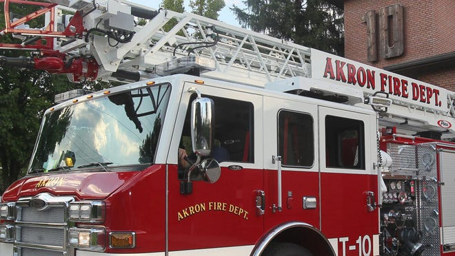 The Akron Fire Department responded to a house fire Sunday evening that sent two children to Akron Children's Hospital.