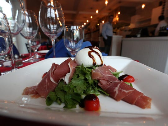 Burrata cheese and prosciutto with balsamic glaze at Fratelli's Trattoria in Croton-on-Hudson Sept. 6, 2017.
