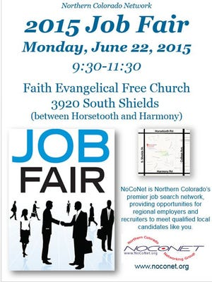 Join NocoNet for a job fair on Monday. The event i held at Faith Evangelical Free Church.