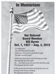 The Palm Springs Air Museum ran a beautiful memorial tribute to Bill in the Saturday, Aug. 8 issue of The Desert Sun.