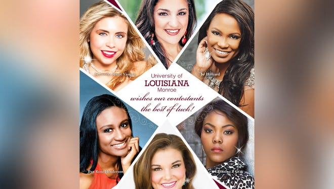Six ULM students will participate in Miss Louisiana pageant.